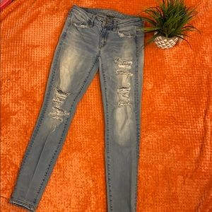 American Eagle Outfitters Jeans - American Eagle Skinny Ripped Jeans  Size 2 Regular